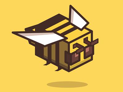 Minecraft Bee Cartoon cartoonmascot customlogo mascotlogo cartoonlogo mascot branding identity brandidentity minecraft cartoon logo bee