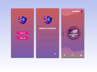 App isometric concept