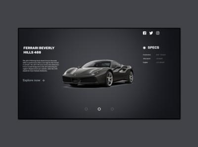 Web Design Car Product