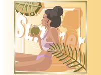 Coconut lady
