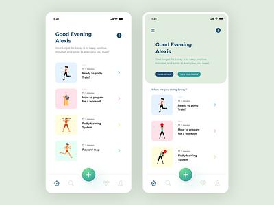 Health App UI fitness app self improvement care ui care app dayli app ui daily ui health care app ux design ui ux design ui nutrition app nutrition ui health ui health app