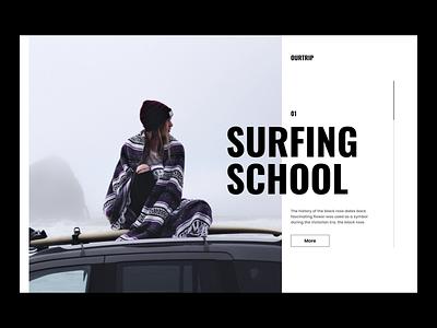 Surf School Layout surf ui surf website webflow minimal ui design wordpress blog ui design decoration ui minimal design wordrepss theme webdesign ui ux design ui landing page design