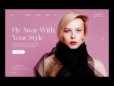 Modern Fashion Layout trendy design home pagedesign landing page design design minimal ui fashion website fashion ui minimal design wordpress wordpress theme webdesign ui ux design ui landing page ui