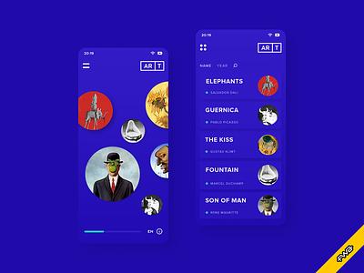Art App fwa mobile app mondrian malevich magritte escher dali augmented reality