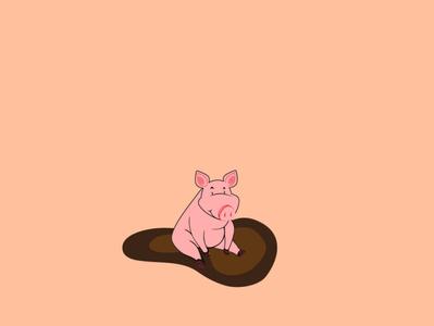 piggy meat farmer pig logo pig animals veterinary vet logo pet cute animals cute animal farm animal