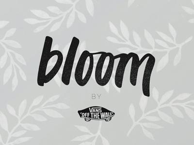 Bloom x Vans Logo