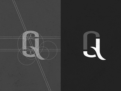 JQ : Logo Construction typography process monogram mark guidelines geometry logo branding identity construction design grid