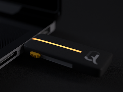 JQ : Pendrive pendrive visual identity flash drive corporate identity yellow black usb logo identity design branding 3d