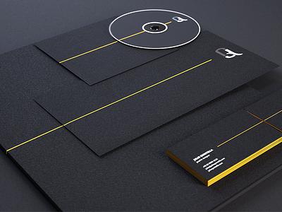 JQ : Stationery 2 corporate identity visual stationery logo identity design cd cards business branding 3d