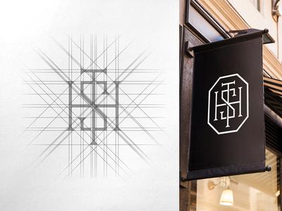 HST Monogram Grid & Mockup