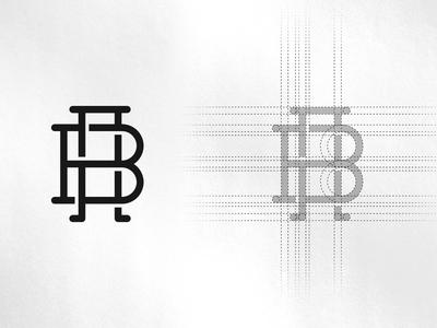 A + B Monogram Logo Design
