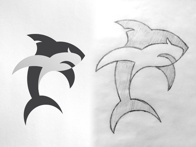 Shark Logomark Vector  & Sketch