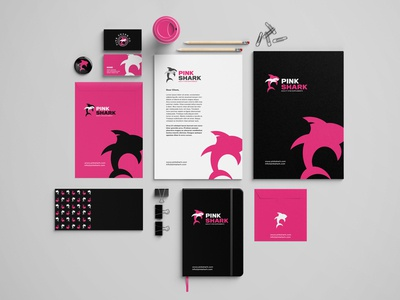 Pink Shark Corporate Brand Identity