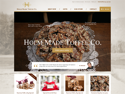 Toffee Site ecommerce toffee candy