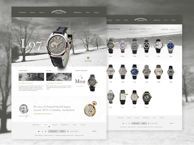 Armand Nicolet watch swiss website design