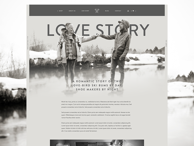 Love Jules Leather leather bespoke company hand crafted minimal story ecommerce web design kicks shoes