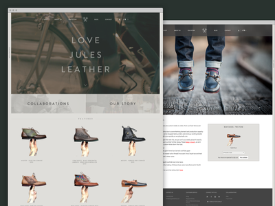 Love Jules Leather Full ux ui ecommerce shoes kicks boots leather