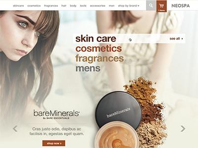 Neospa ecommerce ui makeup cosmetics