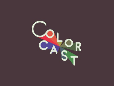 Color Cast logo typography hand type branding lettering design retro