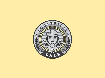 The Lads sports branding branding custom type logos illustration badge design soccer louisville mls usl kentucky
