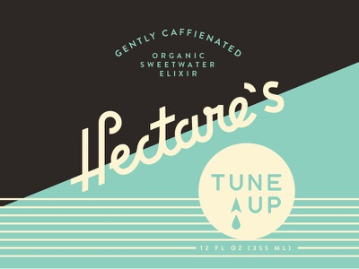 Hectare's Tune Up script packaging bottle label
