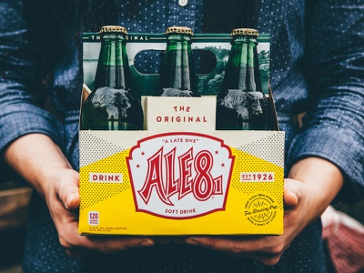 Ale-8 Package System Redesign system branding local glass six-pack original bluegrass classic kentucky packaging pop soda