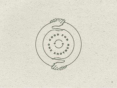 Infinite Bond hanshake cyclical sisters karma tattoo illustration