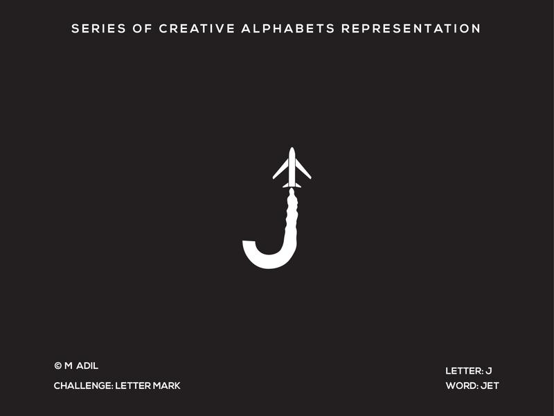 J for Jet creative vector flat logo branding illustration minimal design typography
