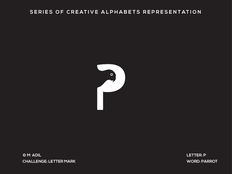 P for Parrot illustrator icon creative vector flat logo branding illustration minimal design typography