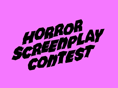 Horror Screenplay Type movie screenplay horror hand-lettering scary lettering type