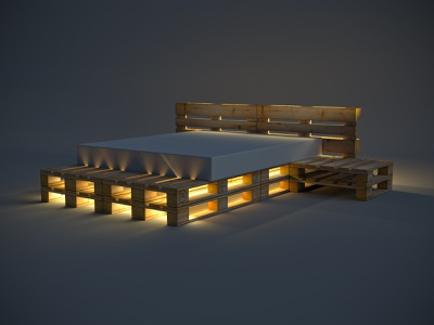 Euro Pallet Furniture ( With lights ) box zerowaste woods weight waste upcycle reuse render recycle pallet model furniture euro design creative