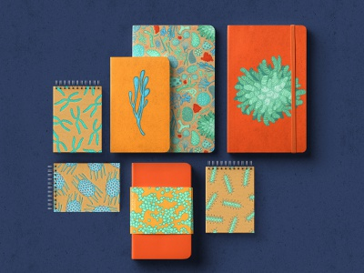 Microbiome pattern nature book design microbiology scientific illustration packaging branding pattern design book cover graphic design illustration