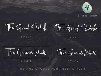 The Great Wall Font elegant font signature fonts script font signature font handwritten font