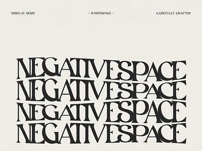 White space - Type Font ux ui vector logo modern font serif font fonts font design design movie font branding