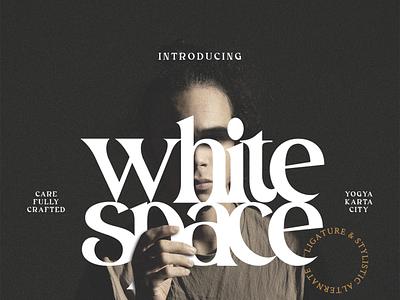 White Space - Modern Font serif font modern font logo illustration font design design font branding