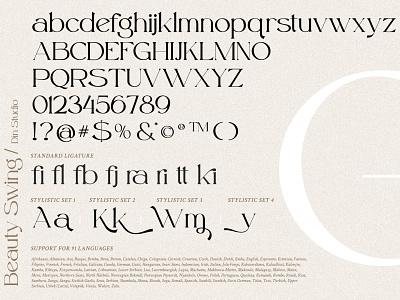 Beauty Swing - Elegant Serif font millenial modern serif display illustration logo animation fonts font design design font branding