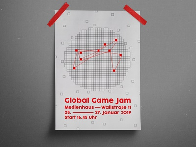 Global Game Jam Poster Design art direction graphicdesign graphic design plakat