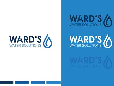 Ward's 💧Solutions Logo Concept logo illustrator typography minimal logo design illustration design branding