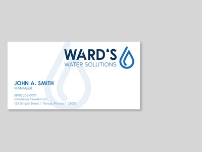 Ward's 💧 Solutions Business Card lettering vector illustrator typography minimal logo design logo illustration design branding