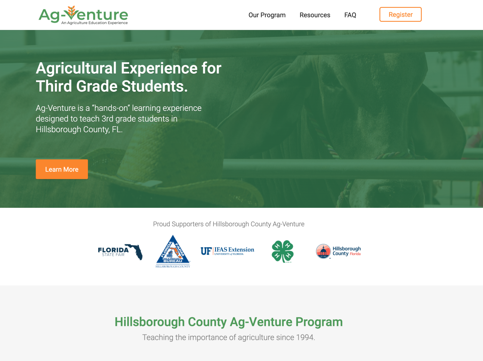 Agventure Web Design By Corey Darnell On Dribbble