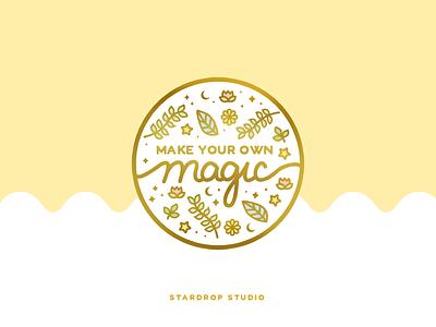 Make Your Own Magic Enamel Pin lapel pin enamel pin cute art pastel icon illustrator illustration