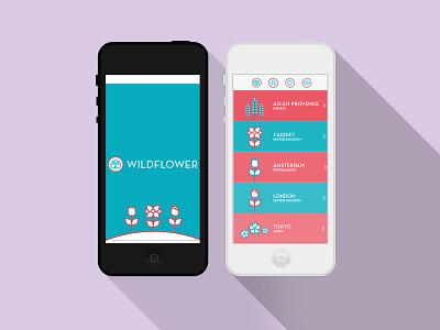 Wildflower: A Travel App icon flower travel app student work