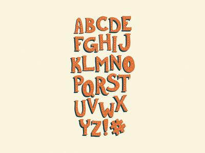 Retro Display Typeface