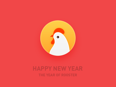 THE YEAR OF ROOSTER newyear happy rooster