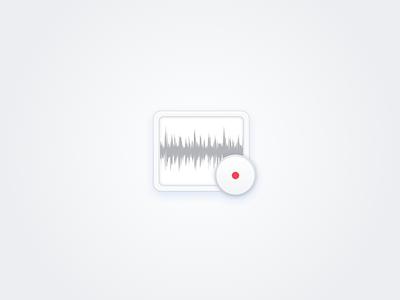 Recorder icon White white semi-flat recorder