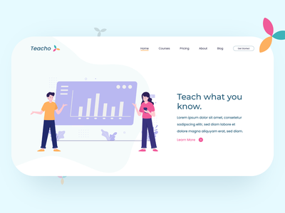 Website Landing Page illustration userinterface minimal design uxui adobeillustator adobexd web landingpage website ui uidesign