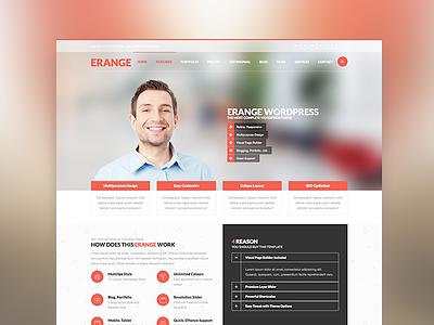 Erange - Multipurpose WordPress Theme wordpress web design portfolio blog corporate
