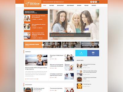 Erosion Blog & Magazine WordPress Theme wordpress blog magazine clean