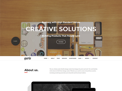 Aeris wordpress theme onepage creative business corporate