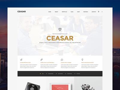 Ceasar wordpress theme template portfolio news